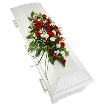 borgerlig begravning blommor